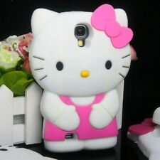 Cover CUSTODIA case per SAMSUNG GALAXY S4 Silicone HELLO KITTY 3D