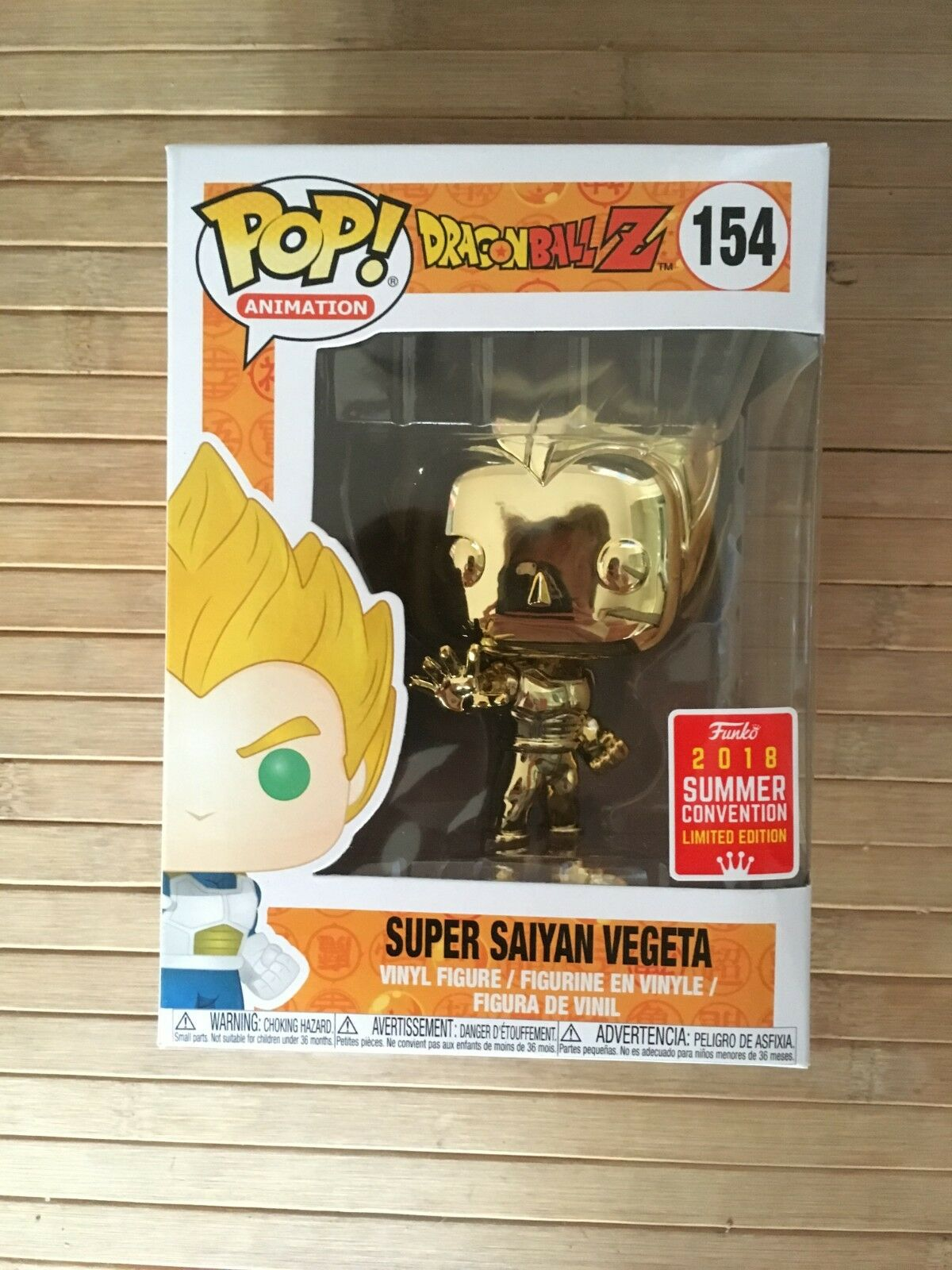 Funko pop dragon ball vegeta Gold chrome   154 sdcc exklusive 2018