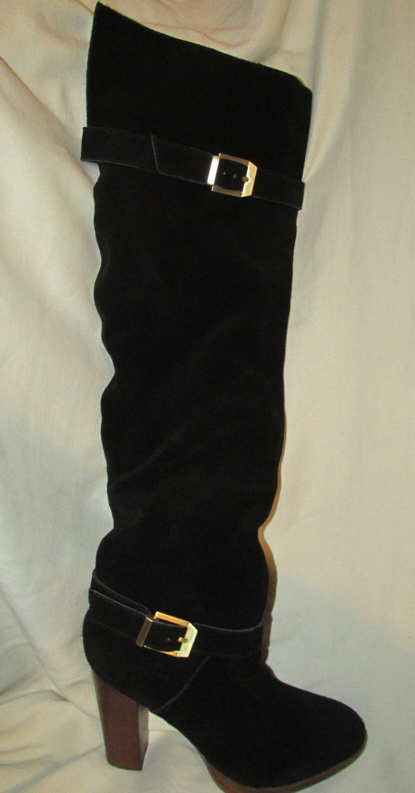 Report Signature Black Knee High Suede Boots - - - Size 6.5M 76bd40