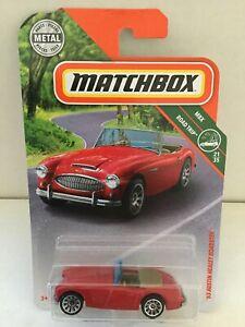 1963-AUSTIN-HEALEY-ROADSTER-2018-Matchbox-87-Red-MBX-Road-Trip