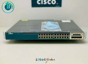 Cisco WS-C3560X-24P-L • 24 Port Gigabit PoE+ Switch ■ COMES WITH C3KX-NM-1G ■