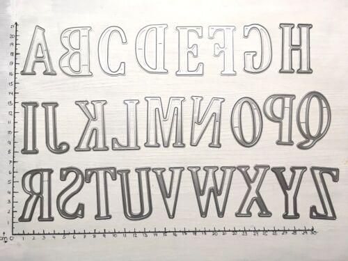 Stanzschablone// Cutting dies ABC 5cm XXL Buchstaben für Big Shot Stanzmaschinen