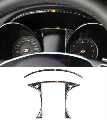 For Mercedes-Benz GLC C Class Carbon Fiber Interior front dashboard cover trim