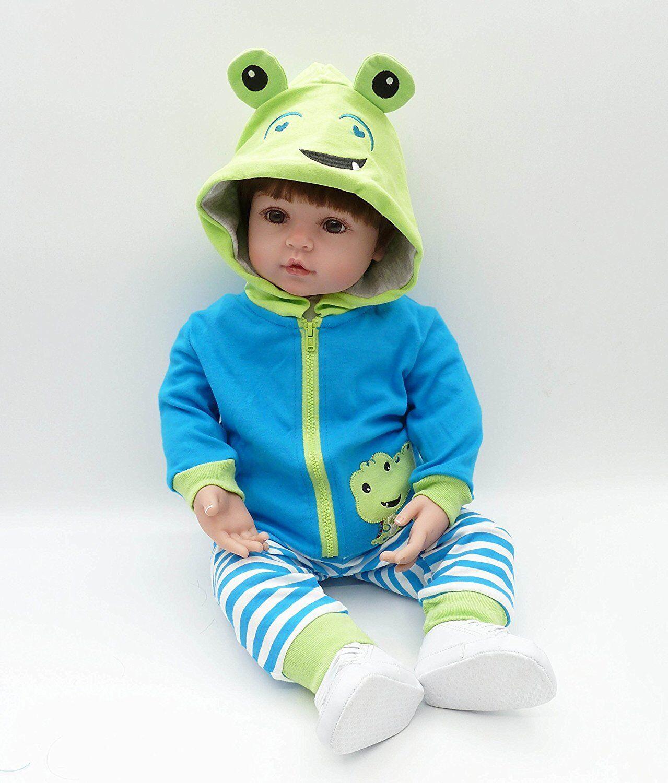 22  Reborn Baby Toddler Boy Muñecas Vinilo de silicona muñecas recién nacido realista Regalos