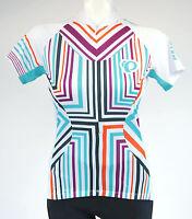 Pearl Izumi W Select Ss Cycling Jersey,women's, Medium, White, Green, Purple