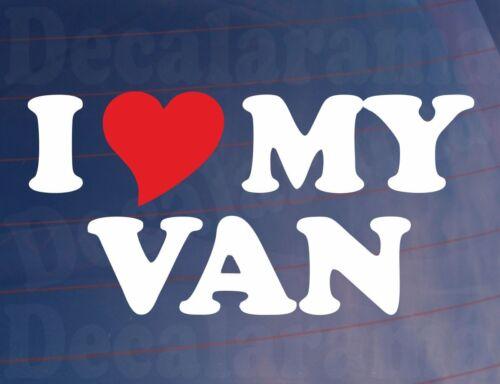 Van Sticker I LOVE//HEART MY VAN Novelty Window Bumper Door Vinyl Decal