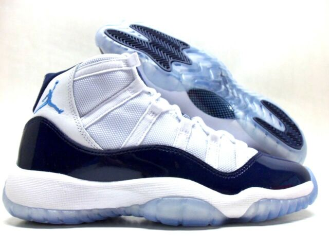 Nike Air Jordan 11 Retro BG XI Win Like 82 UNC Navy Aj11 Women Kid  378038-123 6 Y 59f1ed237