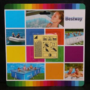 Bestway-10-Reparaturflicken-Wasserfest-Selbstklebend-fuer-Pool-Planschbecken-Boot