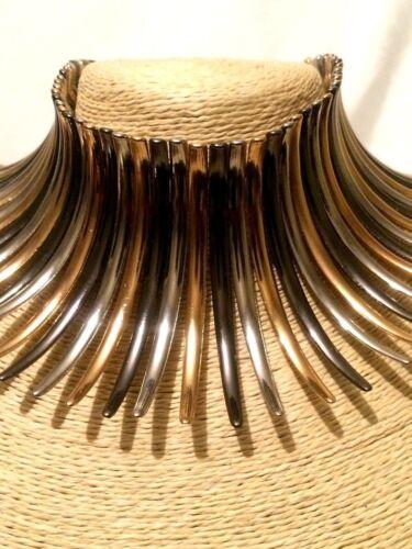 Woman Statement Multi Color Spike Choker Chain Necklace Bib Collar Gothic Punk