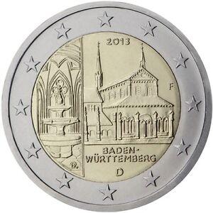 2-EURO-COMMEMORATIVA-GERMANIA-2013-CATTEDRALE-DI-BADEN-WURTTEMBERG-ZECCA-J