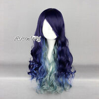 Lolita Long Mixed Multi Colors Fashion Women Cosplay Fancy Party Curly Hair Wig