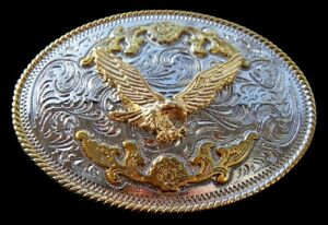 American-Bald-Flying-Eagle-Gold-Silver-Plated-Belt-Buckle-Boucle-de-Ceinture