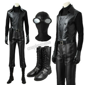 88f587f5264 Details about Spiderman Noir Cosplay Costume Custom Made Halloween Full Set  Superhero Outfit
