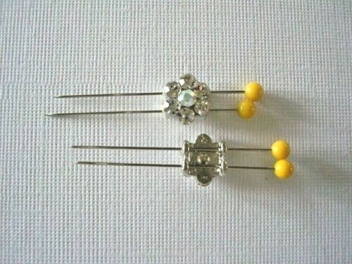 2 Hole Slider Beads Daisy Clear /& AB Made with Swarovski Elements 7 Pieces