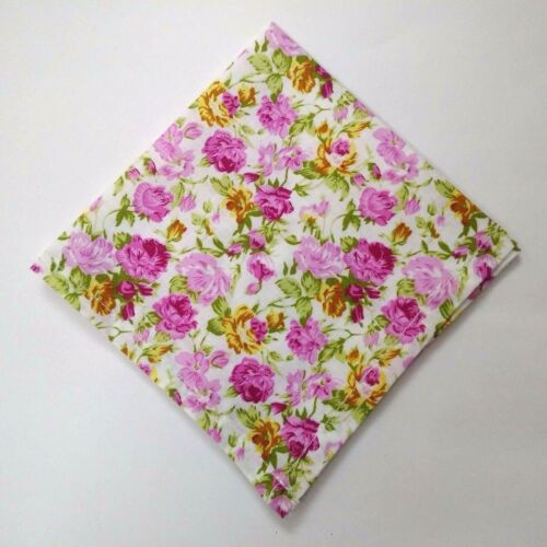 FLORAL PRINT 100/% Cotton Pocket Square Handkerchief Hanky Men Women Unisex