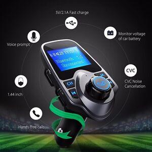 Auto-Wireless-Bluetooth-FM-Transmitter-KFZ-MP3-Musik-Player-Freisprechanlage-USB