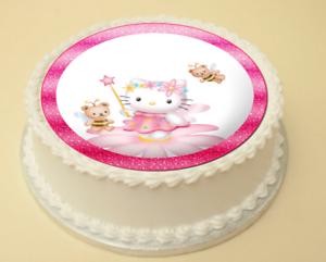 Hello Kitty Comestible Gâteau et Cupcake Topper//Décoration plaquette papier//Icing