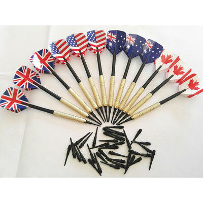 12x Soft Tip Darts 14g Plastic Tips for Electronic Dartboard Safety Dart +36 tip