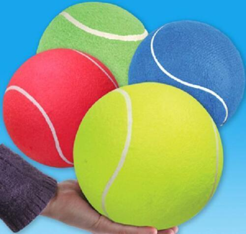 6 JUMBO TENNIS BALLS 8.5 ASSORTED COLORS Dog Play Chew Toy #ST53 Free Shipping