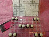 Sponge Dauber Daubers Plastic Storage Case Box +12 Sup Daubers + Sup Color Chart