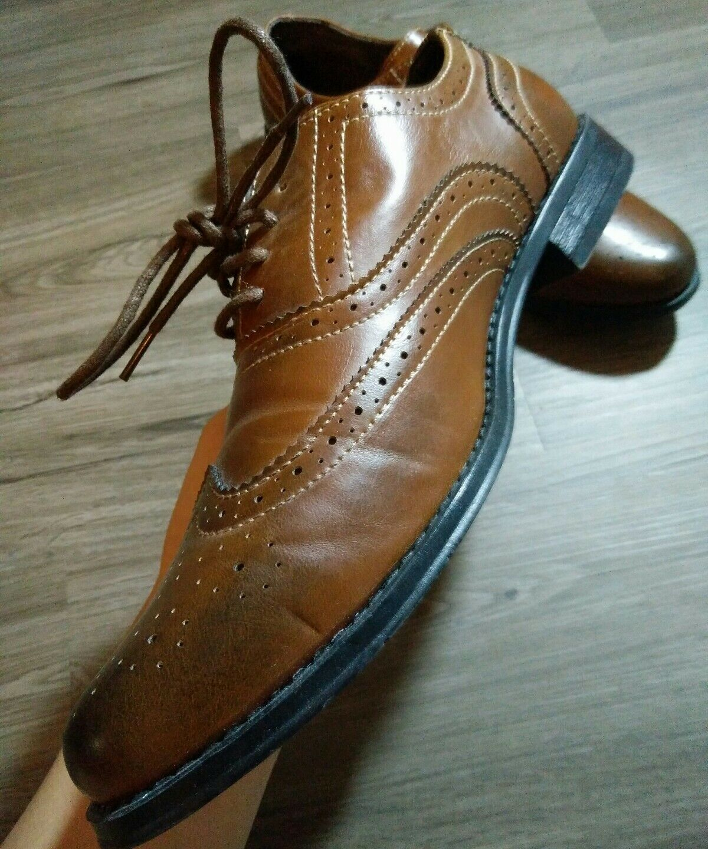 Steve Madden Oxford   Herren 10 Wing M Tip Braun Dark Toe M Wing medium C36 029086