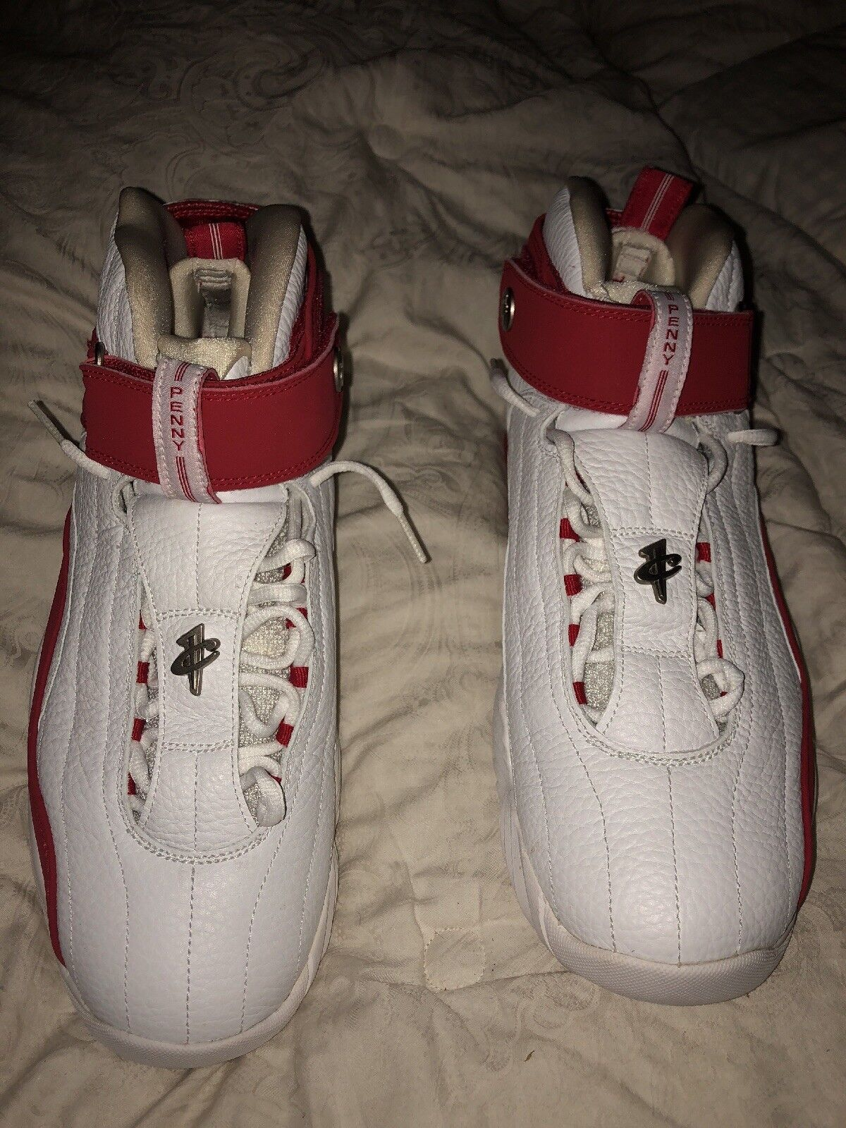 Air Max Penny Iv Nike white red size 11.5 us 45.5 eu authentic zoom air