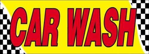 4x12 ft CAR WASH Vinyl Banner Sign auto checkered yb