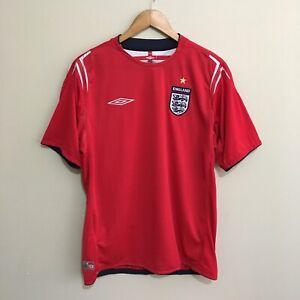 England-Umbro-2004-2006-Soccer-Football-Jersey-Shirt-Mens-Large