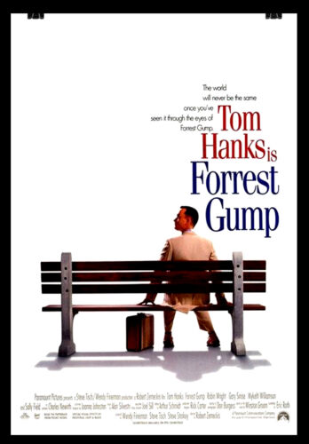 FORREST GUMP Movie Film Cinema wall Home Posters Art A3 #21