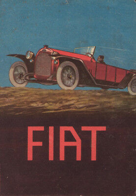 Fiat 1919 Italy Vintage Automobile Motor Car Poster