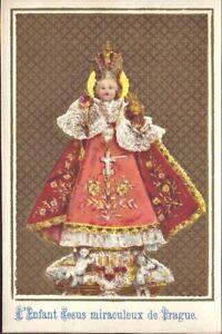 Prag-Jesus-Nino-Cuadro-Santos-Amria-Imagen-Milagrosa-Bohemia-Koloriert-B-6644