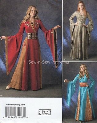 Simplicity 1487 SEWING PATTERN 6-12  Game of Thrones Cersei Costume Dress/Gown