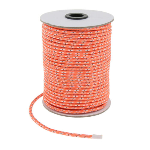 50M 5mm Reflective Guy Line Cord Outdoor Camping Canopy Tent Paracord Rope