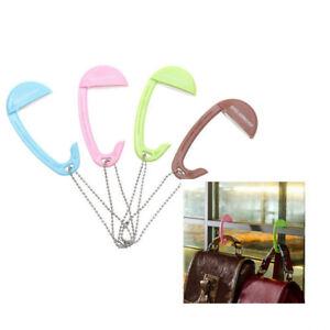 bag hooks for hanging portable table purse bag hook wall hanger handbag holder b ebay. Black Bedroom Furniture Sets. Home Design Ideas