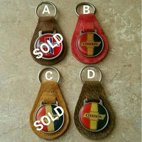 Vintage Chevrolet Chevy CITATION Suede Leather Keychain w// FREE Shipping