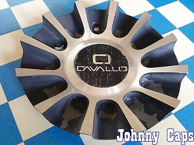 Cavallo Wheels 51 Used Metal Center Cap C243l176a Silver Black Qty 1 Ebay