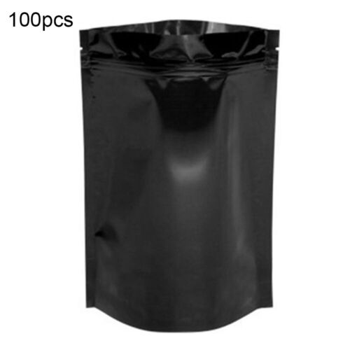 BH/_ 100Pcs 7x10cm Aluminum Foil Waterproof Resealable Ziplock Packaging Bags Eyl