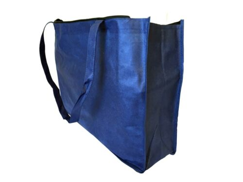 """2 20/"""" Extra Large Recycled Eco Friendly Grocery Shopping Tote Bag Bags Zipper"""