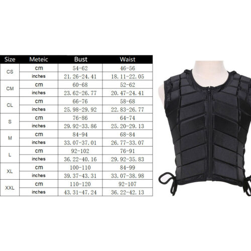 Adult//Kids Horse Riding Equestrian Body Protective Safety Eventer Vest Protector