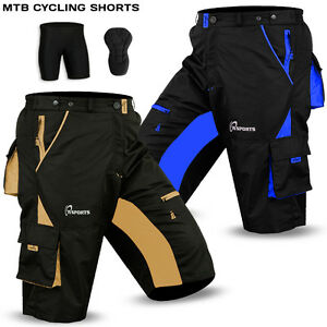 3305d1e34 MTB Cycling Short Off Road Cycle Bicycle Cool Max Padded Liner ...