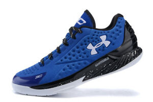hot sale online f8518 2c40d Image is loading Under-Armour-Steph-Curry-1-Low-Royal-Blue-