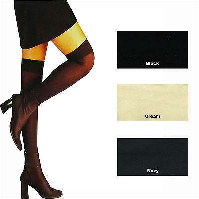 3 Pairs Of Ladies / Girls 70 Denier Thigh High / Over The Knee With Lycra*