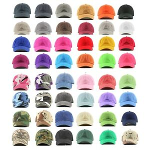 Polo-Style-100-Cotton-Baseball-Cap-Ball-Dad-Hat-Adjustable-Plain-Solid-Washed