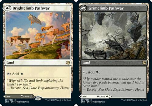Grimclimb Pathway Zendikar Rising RARE NM//M MTG x4 Brightclimb Pathway