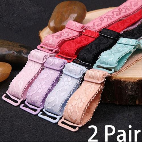 Replacement Back Clip Shoulder Belt Bra Straps Embroidery Adjustable