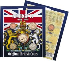 GEORGE VI COLLECTION Coins x5 Presentation Pack King 1936-1952 Half Crown Royal