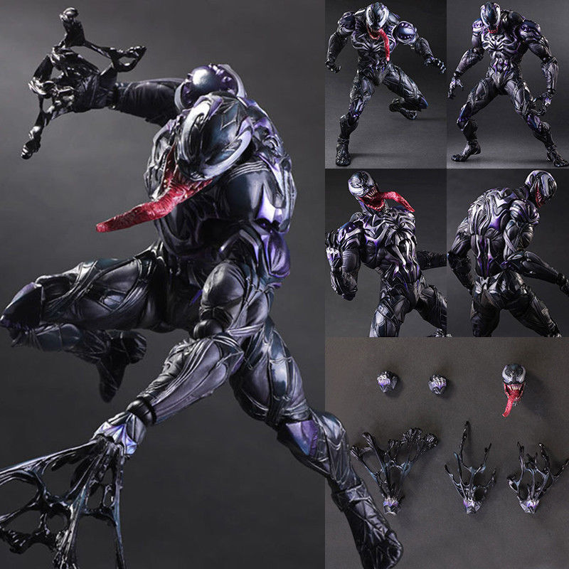 Marvel Venom Figure Variant Play Arts Kai Collectible Model Toy New in Box 10in