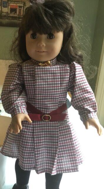 doll dress for 18 inch american girl handmade musical note on black rare 100
