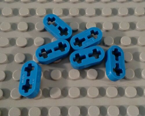 LEGO Lot of 6 Blue 1x2 Think Technic Mindstorms Liftarms Pieces