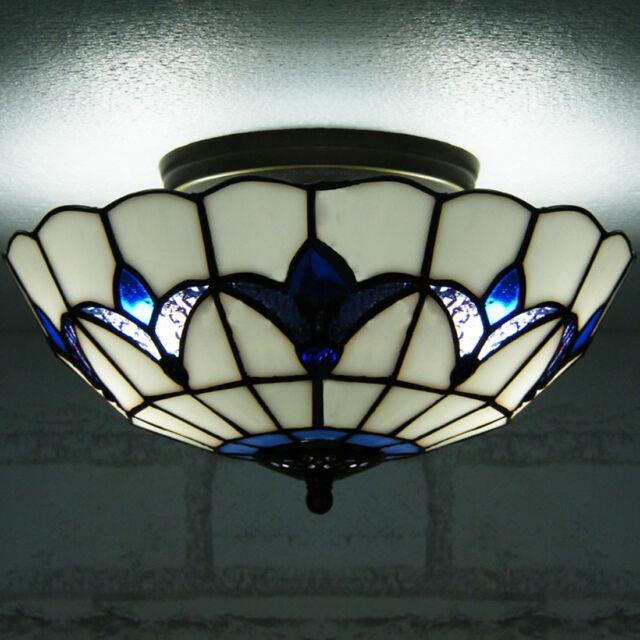 Dale Tiffany Th70118 Peacock Semi Flush Mount Ceiling Light For Sale Online Ebay